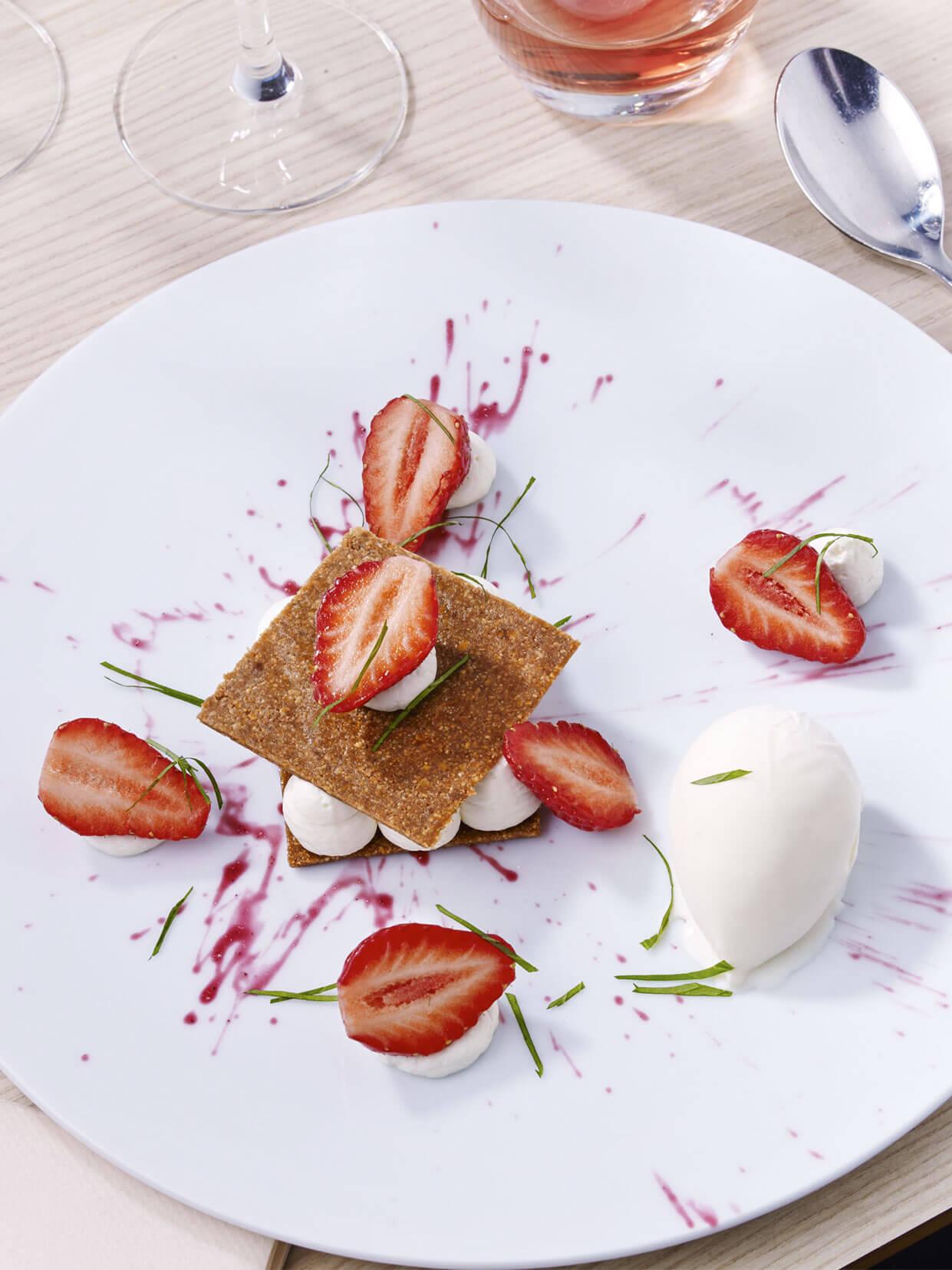 dessert fraises le karo